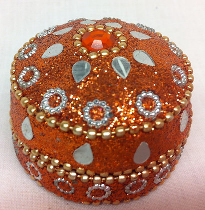 Round Orange Mini Sparkle Pot
