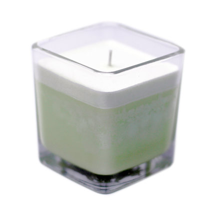 Cucumber & Mint Soy Wax Candle In A Recycled Glass Pot