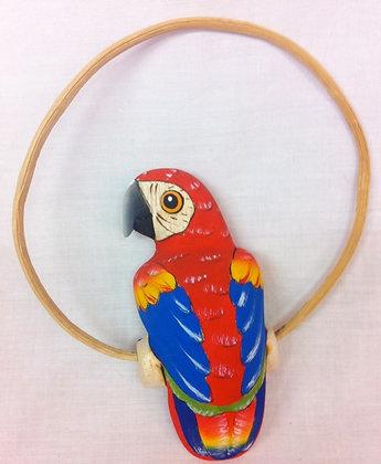 Fair Trade Wooden Hand Made Parrot