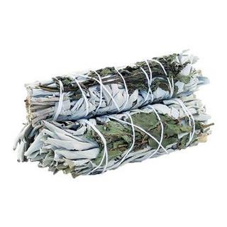 White Sage & Peppermint 10cm smudge stick