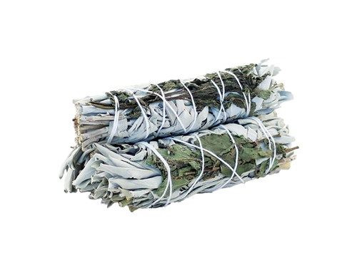 White Sage & Peppermint 10cm smudge stick