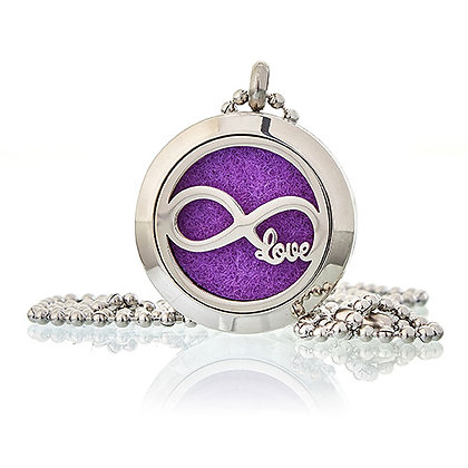 Infinity Love Aromatherapy Diffuser Necklace