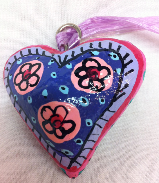 Fair Trade Hanging Heart Decoration