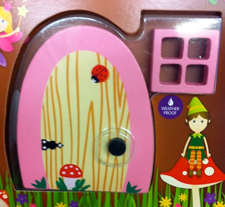 Pink Fairy Door for the Garden With Window