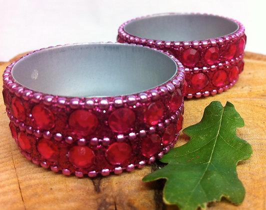 Fair Trade Pair of Pink Nite Lite Holders