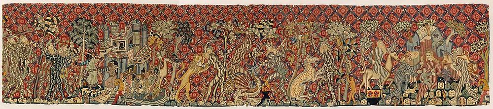 Tapestry of wild men