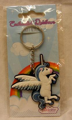 Blue Pegasus Keyring