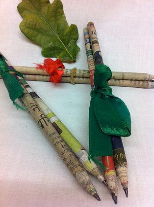Fair Trade Newspaper Pencil Bundle