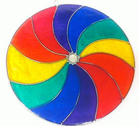 Fair Trade Swirl Rainbow Suncatcher