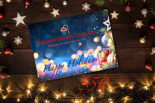 Gift of Clean Holiday Card - $50