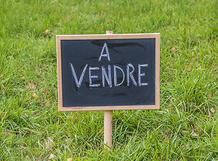 """blackboard with text in french """"for sale"""