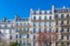 Paris, beautiful buildings in the center