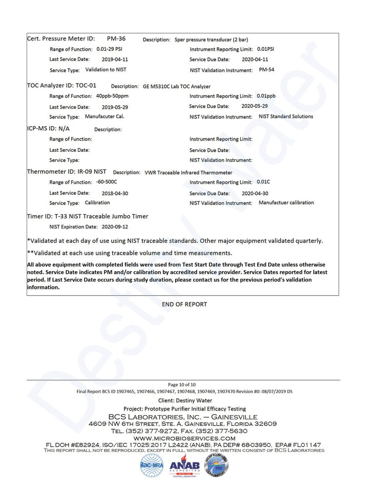 Destiny Water - Certified Water Filtrati