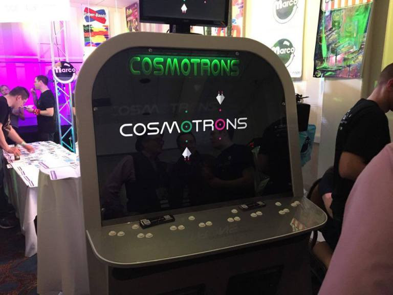 Photo of Cosmotrons cab from arcadeheroes.com