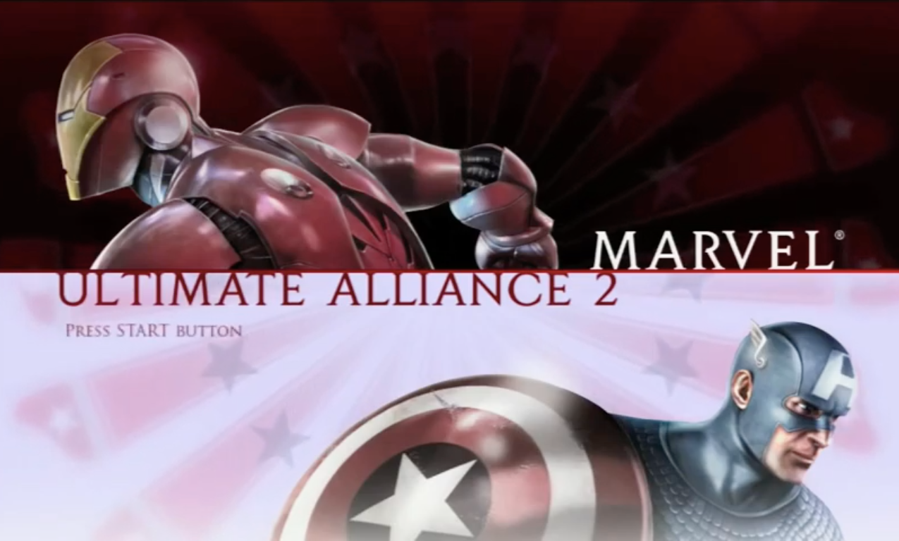 Marvel Ultimate Alliance 2 PS3 Title Scr