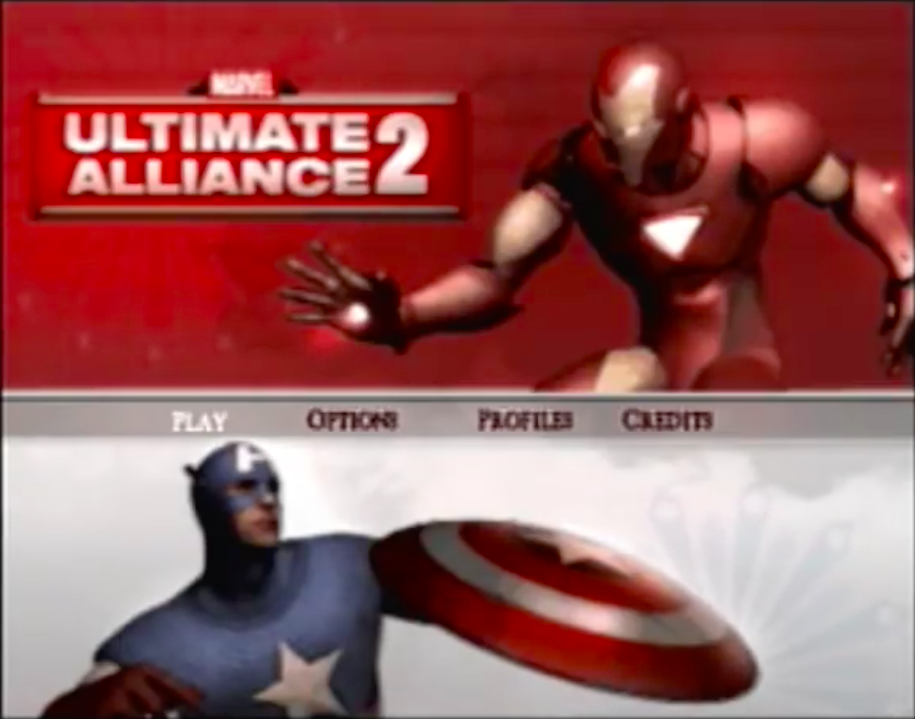 Marvel Ultimate Alliance 2 PS2 Title Scr
