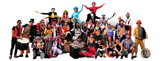 Artistas de circo, zancos, malabaristas, acróbatas, clowns, payasos, músicos. Eventos