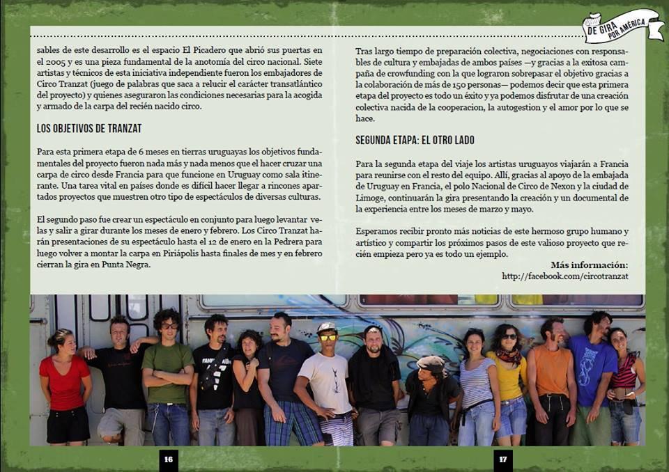 Nota en la publicación Argentina de circo El Circense