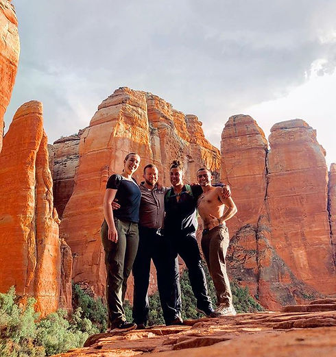 Personal Trainers Rock Hudson and Kate Hudson hiking Sedona