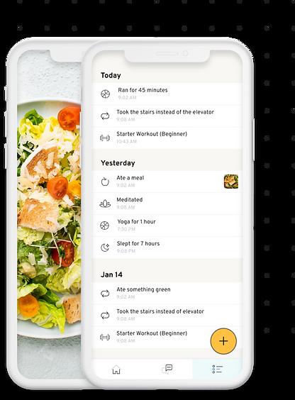 Mavericks Fitness Mobile App for Nutrition