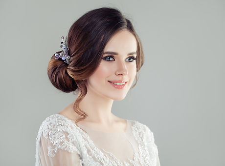 Canva - Cheerful woman with bridal updo