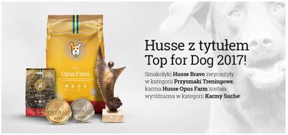 Husse z tytułem Top for Dog!
