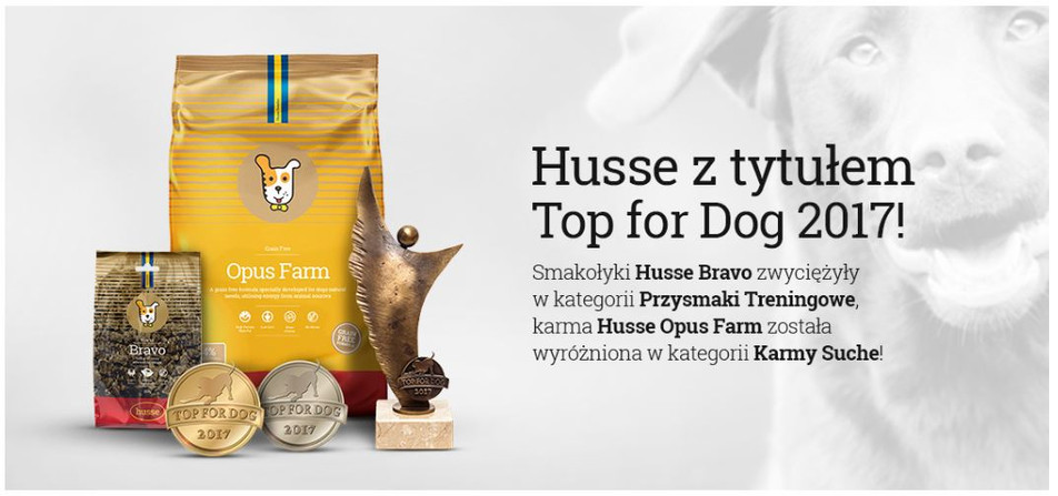 Husse z tytułem Top for Dog!