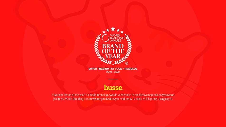 Husse zwycięzcą Brand of the Year 2019/2020!
