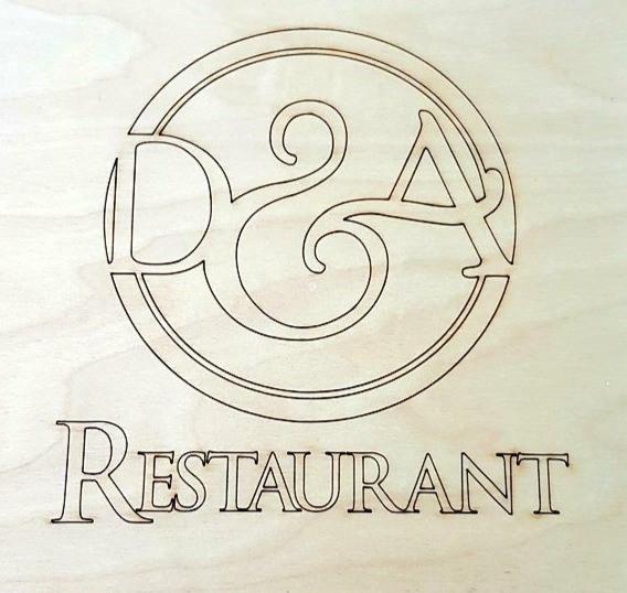 Laser etched logo