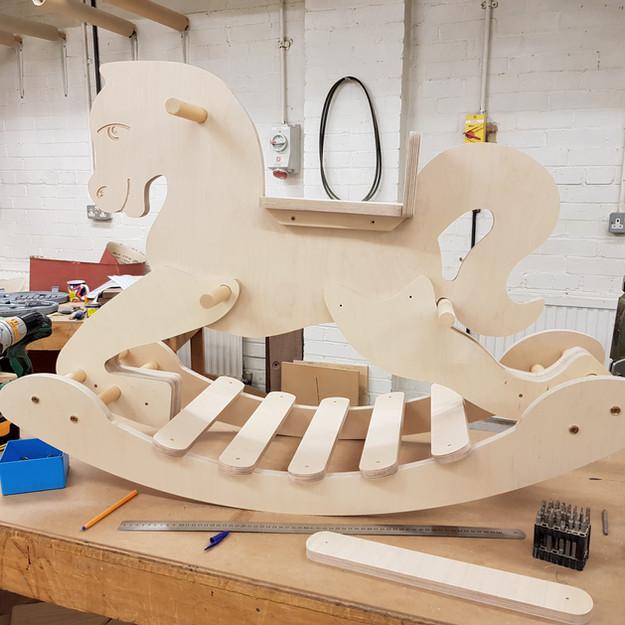 Plywood Rocking Horse