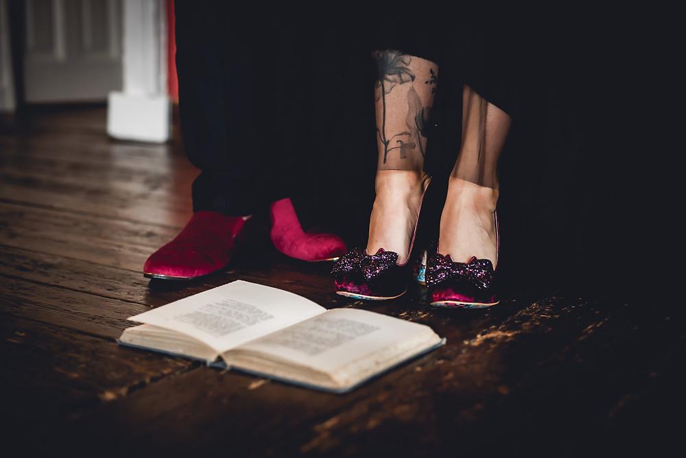 Irregular Choice Red Wedding Shoes