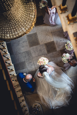 Bride and father at Stubton Hall