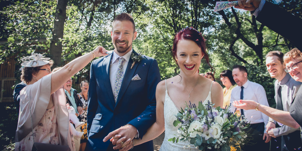 Confetti Shot at Hothorpe Wedding