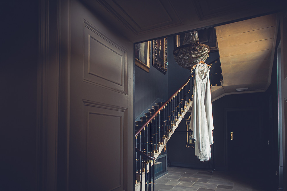 Wedding Dress Hanging at Stubton Hall