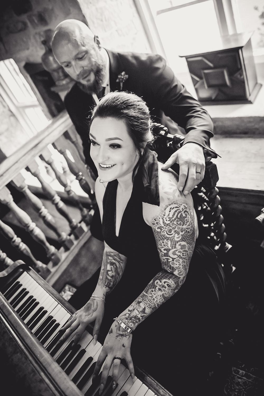 Playing the Piano at Allington Manor