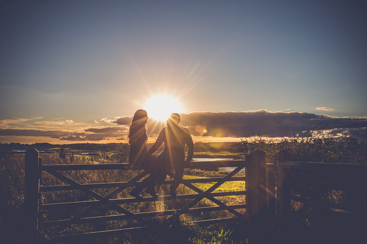 Bailey Lonsdale | Couple at Sunset | Engagement Photoshoot | Nottingham