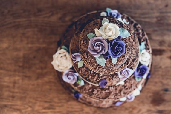 Overhead Chocolate Wedding Cake, Leicestershire