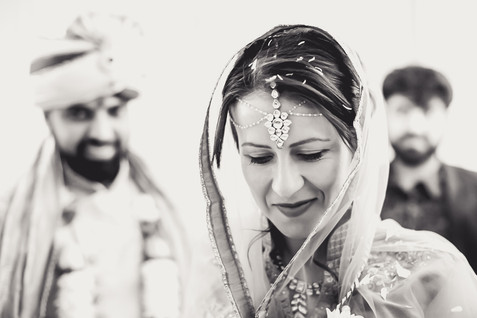 Bride at Indian Wedding, Leicestershire