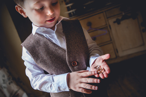 Page Boy with Wedding Rings at Allington Manor, Grantham