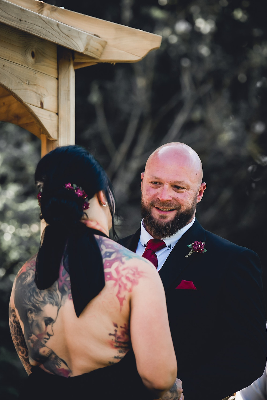 Outdoor Wedding Ceremony Ring Exchange