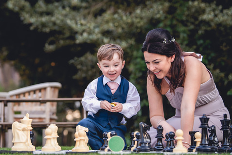 Garden games at wedding in Leicestershire