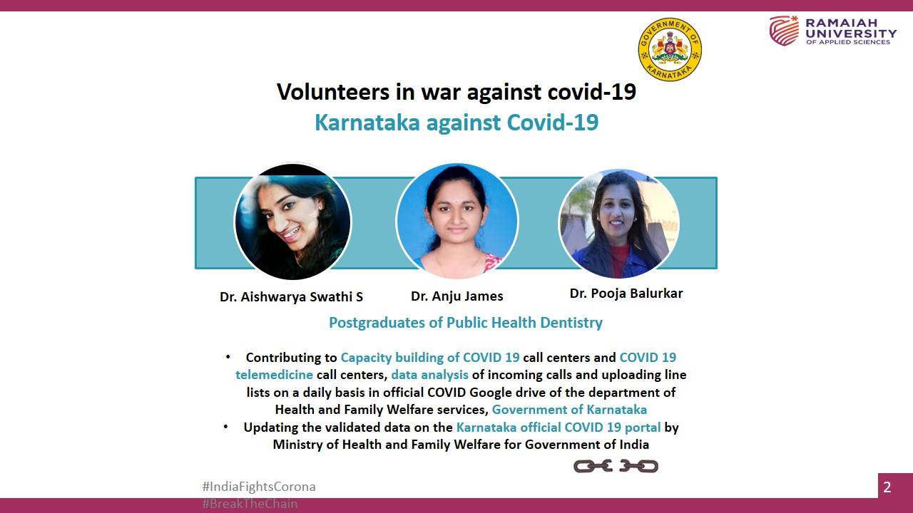 Covid War Room Volunteers