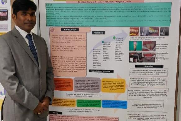 Dr Mahantesha Presenting poster