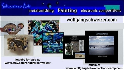 business card, SChweizer Arts, paintings, jewelry, compositions