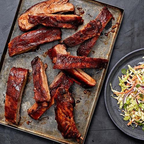 BBQ SPARERIBS + BBQ CHICKEN (dark meat)