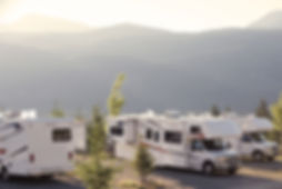 RVs and Campers in campgroun
