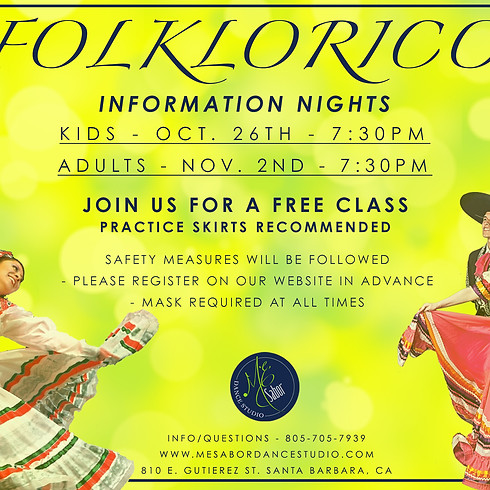 Folklorico Information Night -Kids