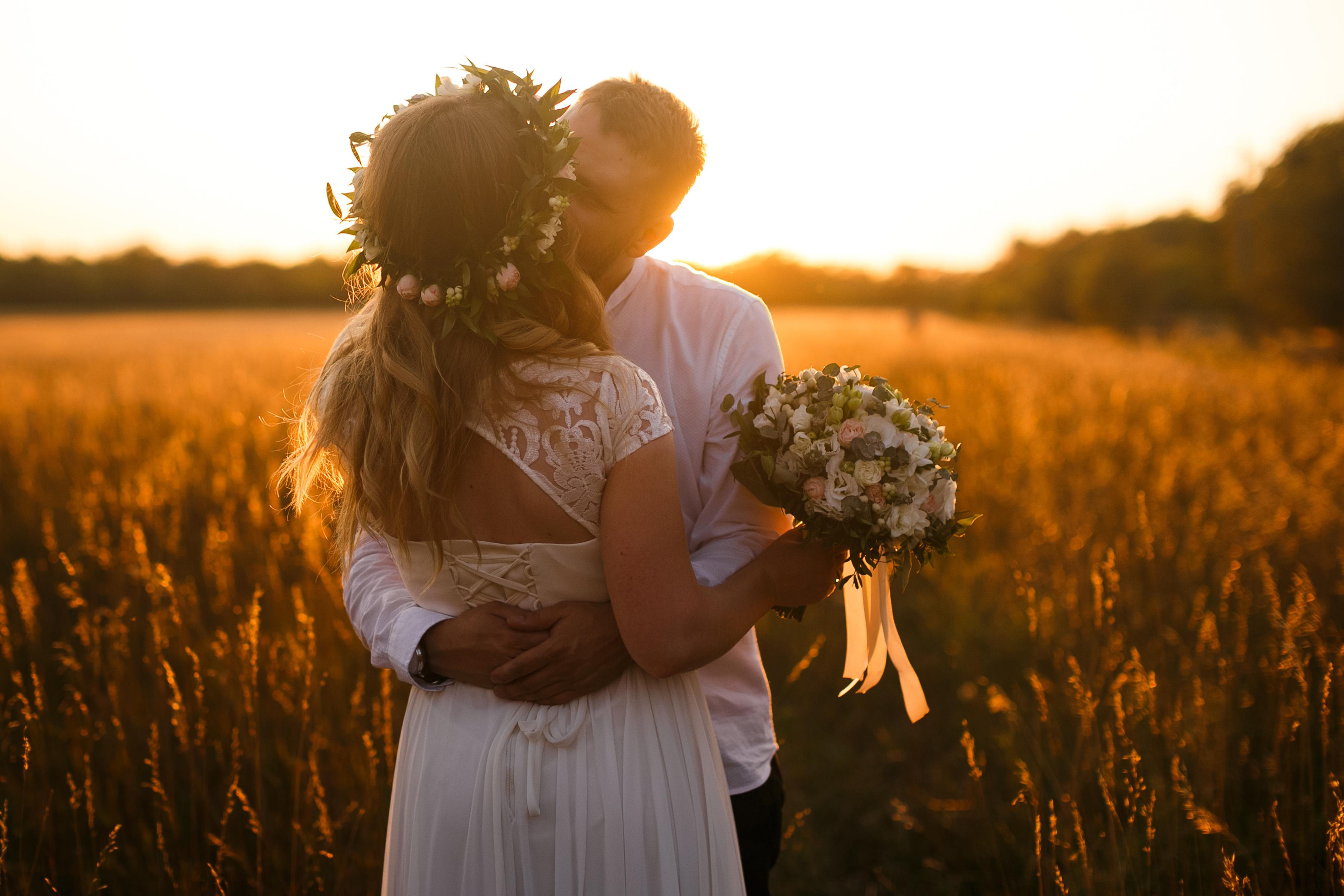 Hochzeit, Herz, Liebe, Brautpaar