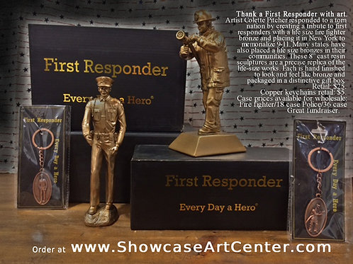 """""""Every Day a Hero"""" fire fighter sculpture"""