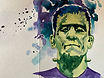 Frankenstein watercolor by Colette Pitcher